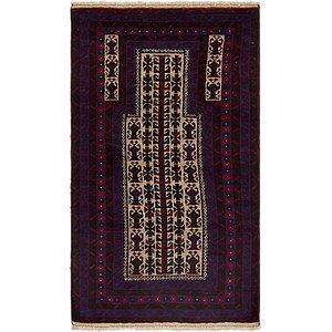 Unique Loom 3' x 5' Balouch Persian Rug