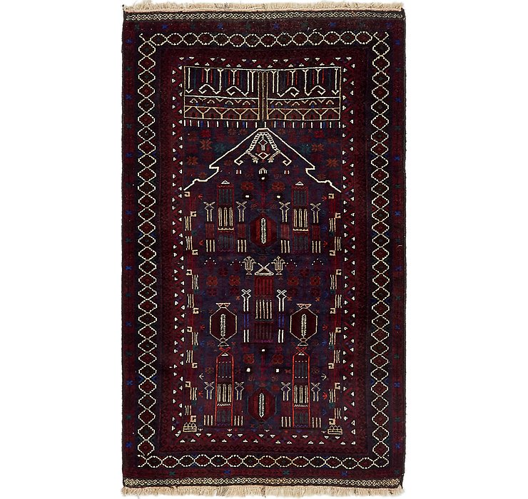 HandKnotted 3' 3 x 5' 7 Balouch Persian Rug