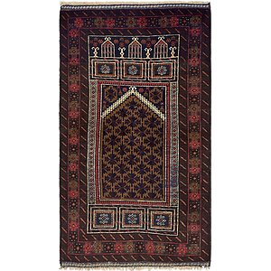 Unique Loom 2' 10 x 5' Balouch Persian Rug