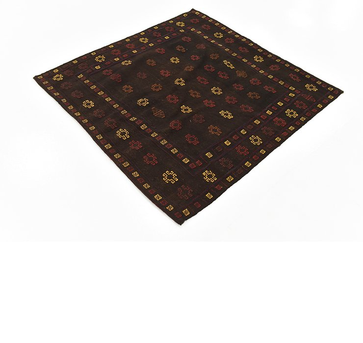 HandKnotted 4' 5 x 4' 5 Sumak Square Rug