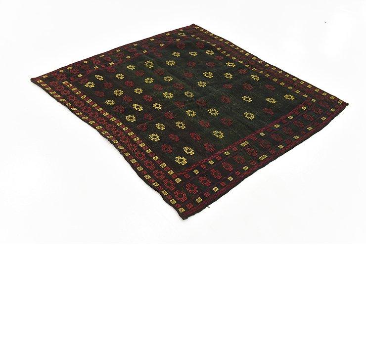 4' 6 x 4' 10 Sumak Square Rug