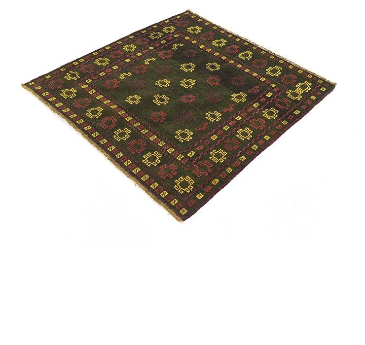 4' x 4' 3 Sumak Square Rug