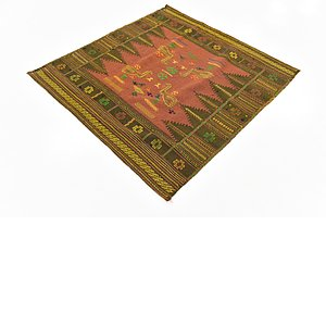 HandKnotted 4' 4 x 4' 5 Sumak Square Rug