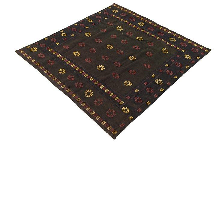 4' 5 x 4' 8 Sumak Square Rug