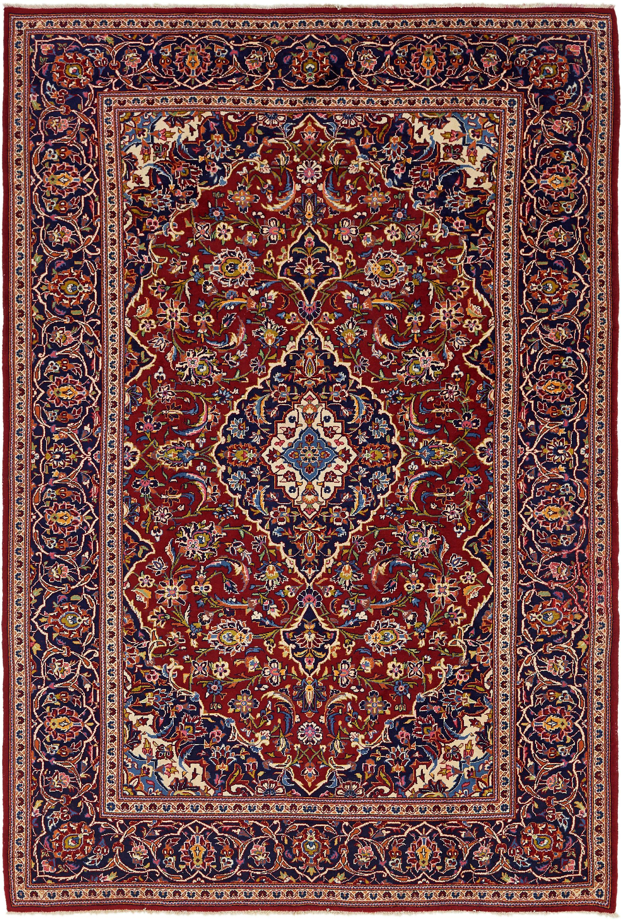 Red 8 X 12 Kashan Persian Rug Handknotted Com