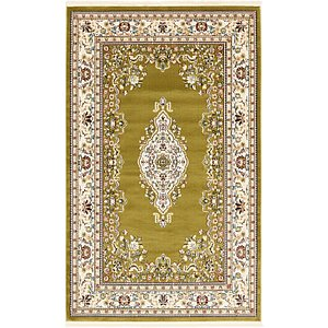 Unique Loom 5' x 8' Tabriz Design Rug