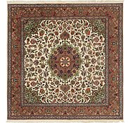 Link to 6' 7 x 6' 9 Tabriz Persian Square Rug