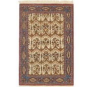 Link to 4' 5 x 7' Qom Persian Rug