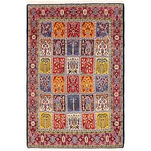 4' 5 x 6' 9 Qom Persian Rug