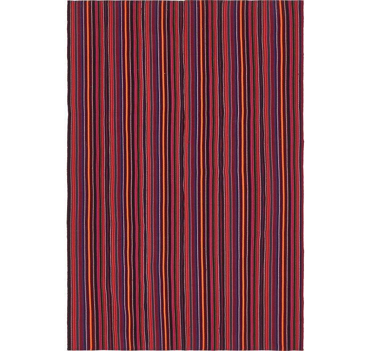 6' 2 x 9' 3 Kilim Fars Rug