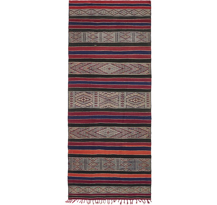 HandKnotted 5' 2 x 12' 9 Moroccan Oriental Runne...