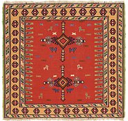 Link to 4' 7 x 4' 10 Sumak Square Rug