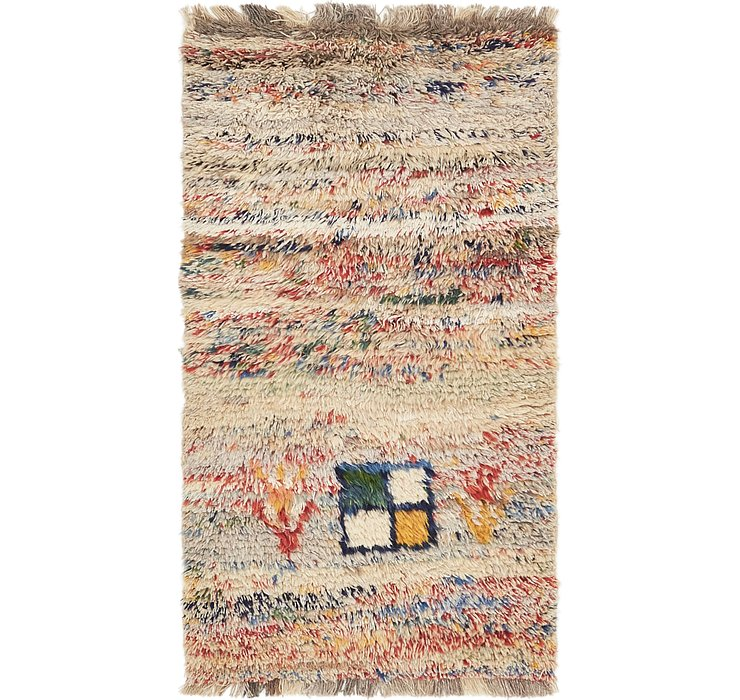 HandKnotted 2' 10 x 5' 4 Moroccan Rug