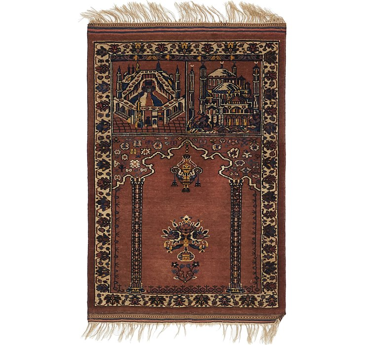 2' 9 x 4' 2 Lahour Oriental Rug