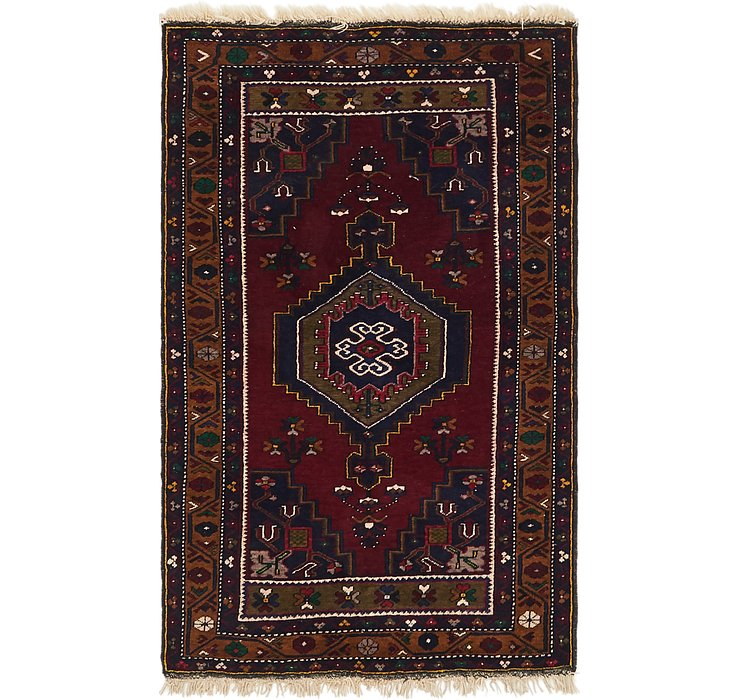 HandKnotted 3' 4 x 5' 6 Kars Rug
