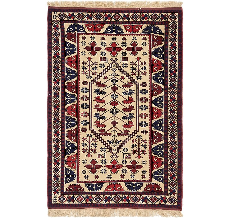 HandKnotted 3' 9 x 5' 9 Kars Rug