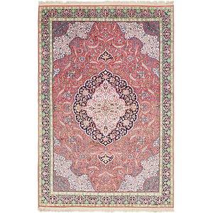 HandKnotted 6' x 9' 5 Kashmir Oriental Rug