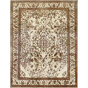 HandKnotted 9' 9 x 12' 9 Ultra Vintage Persian Rug