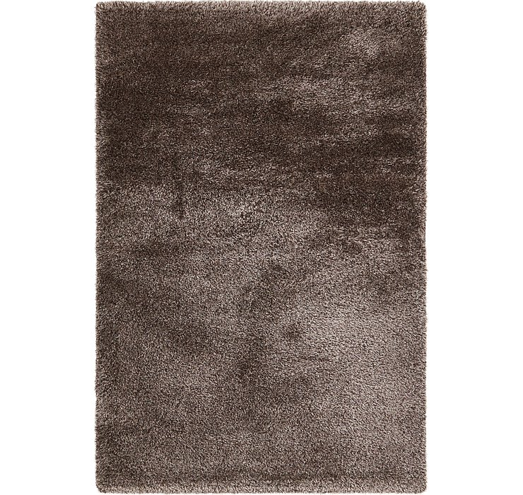 6' 7 x 9' 10 Luxe Solid Shag Rug