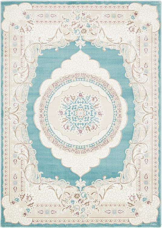 Turquoise 6 7 X 9 4 Classic Aubusson Rug Area Rugs