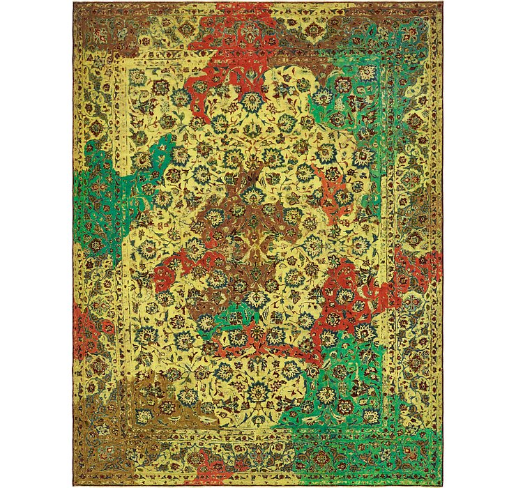 300cm x 390cm Ultra Vintage Persian Rug