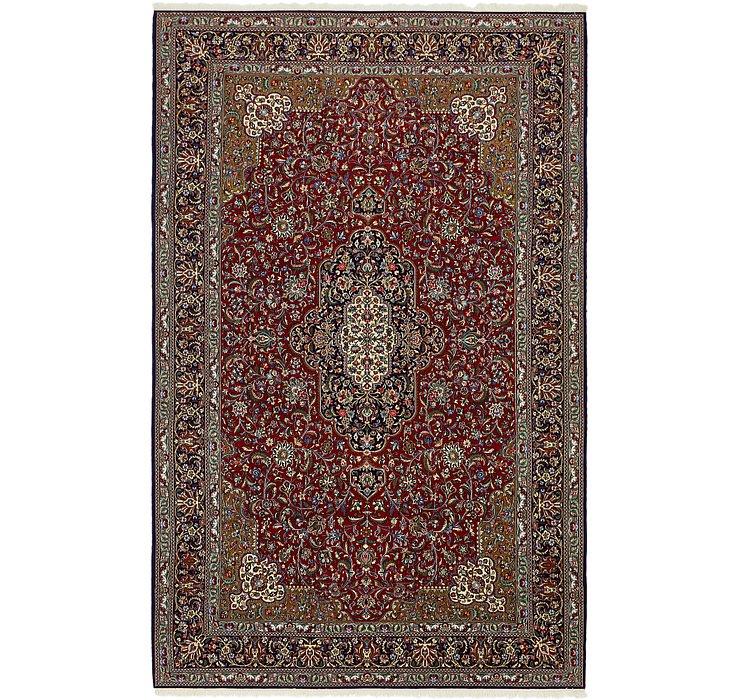7' x 11' 4 Qom Persian Rug