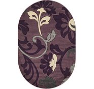 Link to 5' x 7' 7 Damask Oval Rug