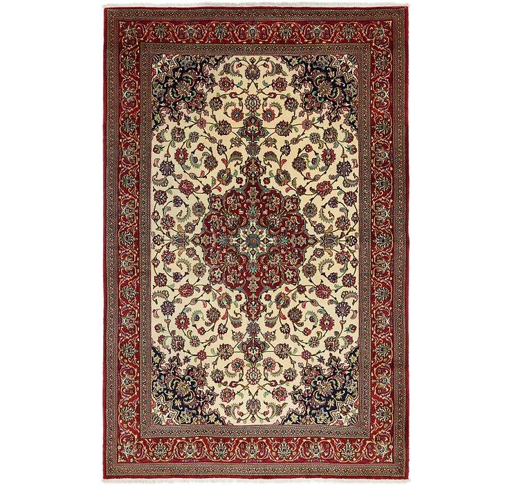 6' 8 x 10' 3 Qom Persian Rug