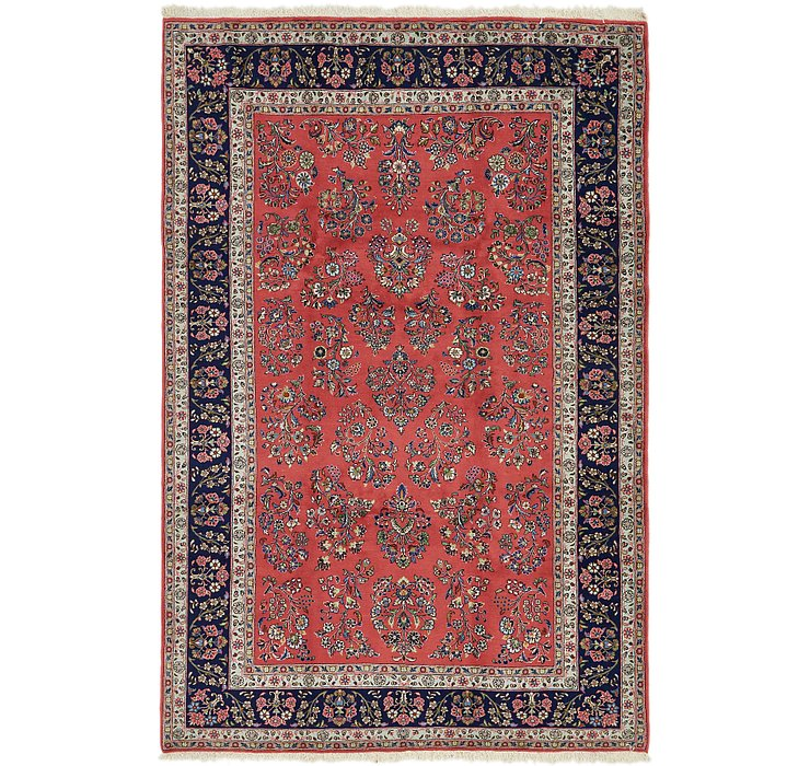 6' 6 x 9' 10 Sarough Persian Rug