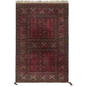 5' 5 x 8' Afghan Ersari Oriental ...