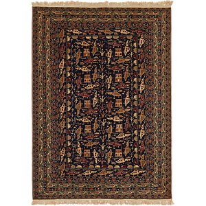 Unique Loom 6' 4 x 9' 2 Kazak Rug