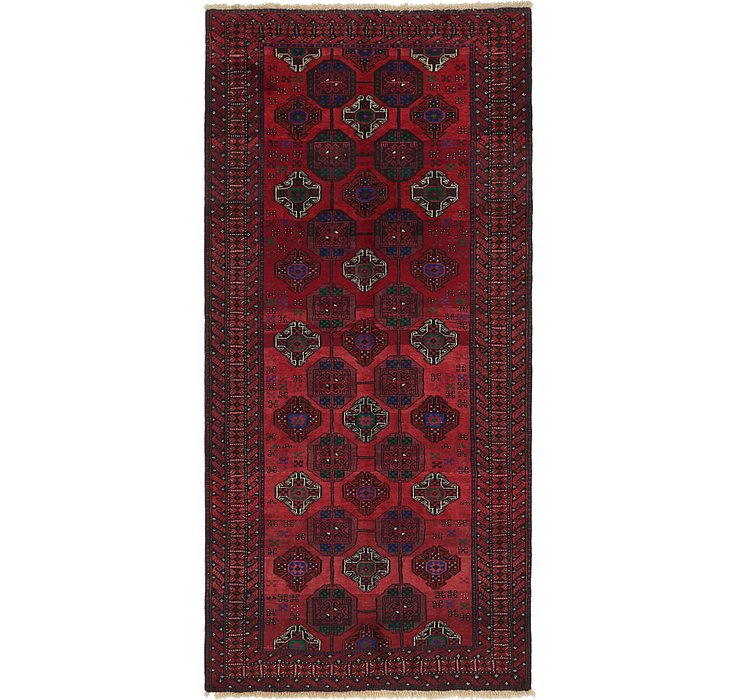 4' 10 x 10' Balouch Persian Runner ...