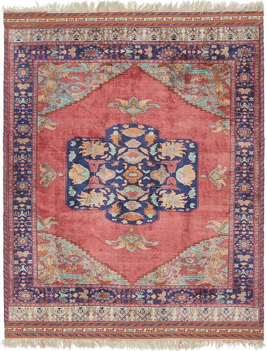 Pink 7 X 8 8 Sirjan Persian Rug Persian Rugs Irugs Uk