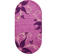 Link to 6' 7 x 13' Damask Oval Rug