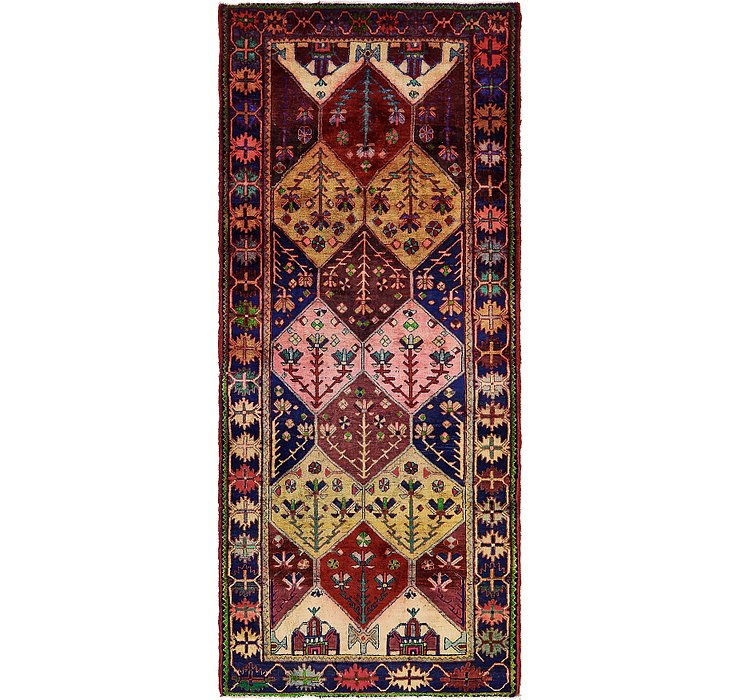 4' 4 x 10' 3 Shiraz Persian Runner Rug
