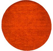 Link to 6' 4 x 6' 4 Solid Gabbeh Round Rug