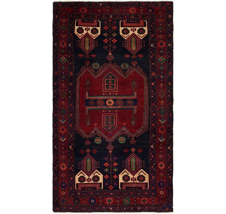 4' 9 x 9' Sirjan Persian Runner Rug