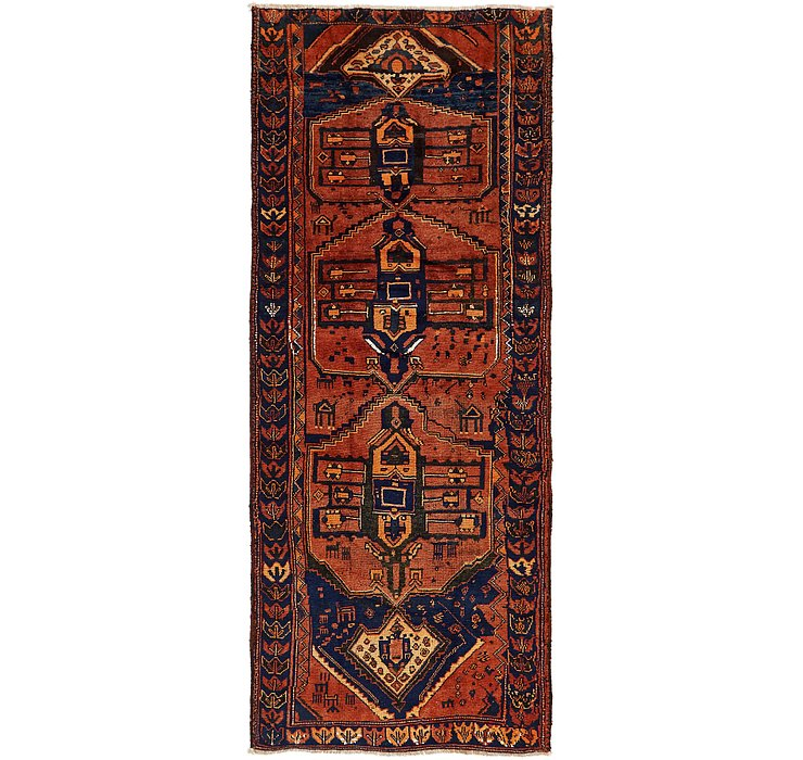 4' x 10' 5 Shiraz Persian Runner Rug