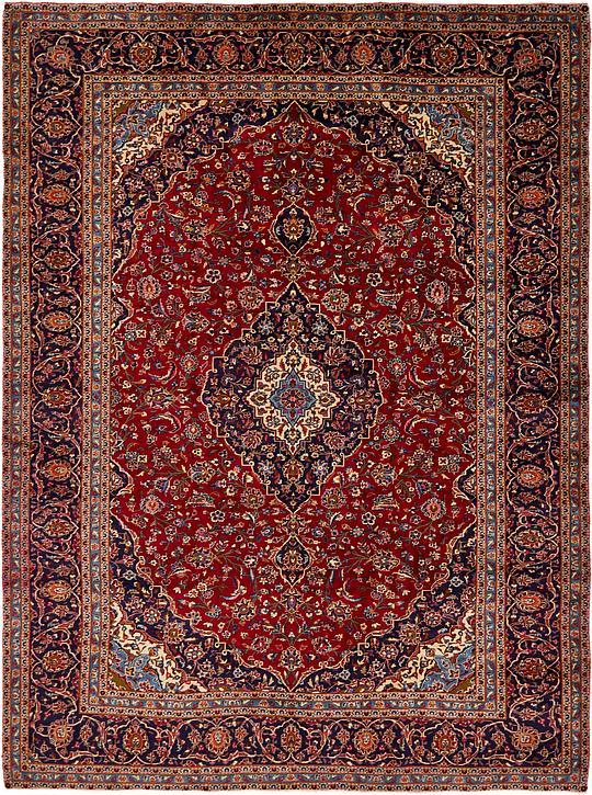 Red 9 10 X 13 Kashan Persian Rug Persian Rugs Irugs Uk