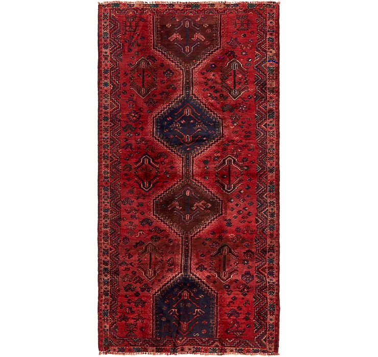 4' 4 x 8' 7 Shiraz Persian Runner Rug