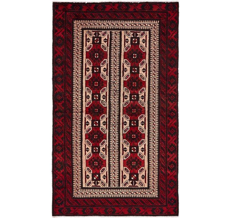 3' 9 x 6' 6 Balouch Persian Rug