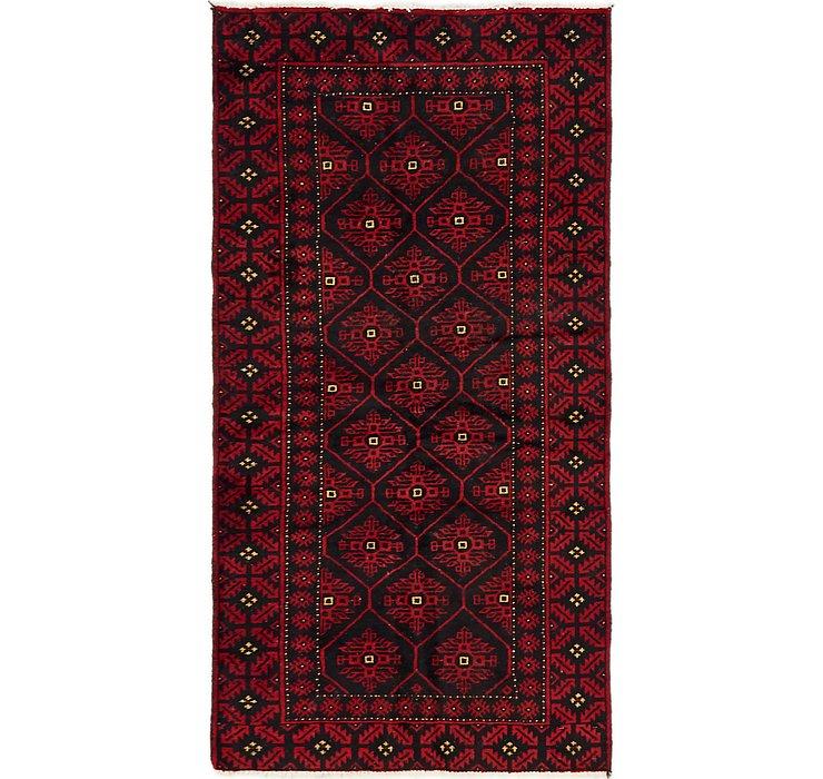 3' 4 x 6' 9 Balouch Persian Rug