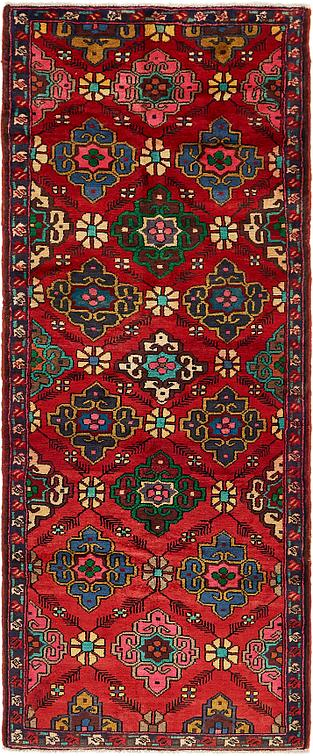 Red 3 9 X 10 3 Hamedan Persian Runner Rug Persian Rugs