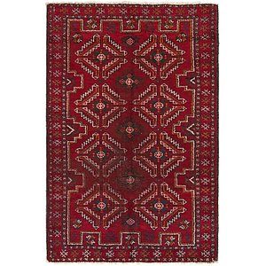 Unique Loom 4' x 6' Balouch Persian Rug