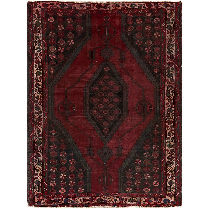 4' 5 x 6' 3 Mazlaghan Persian Rug