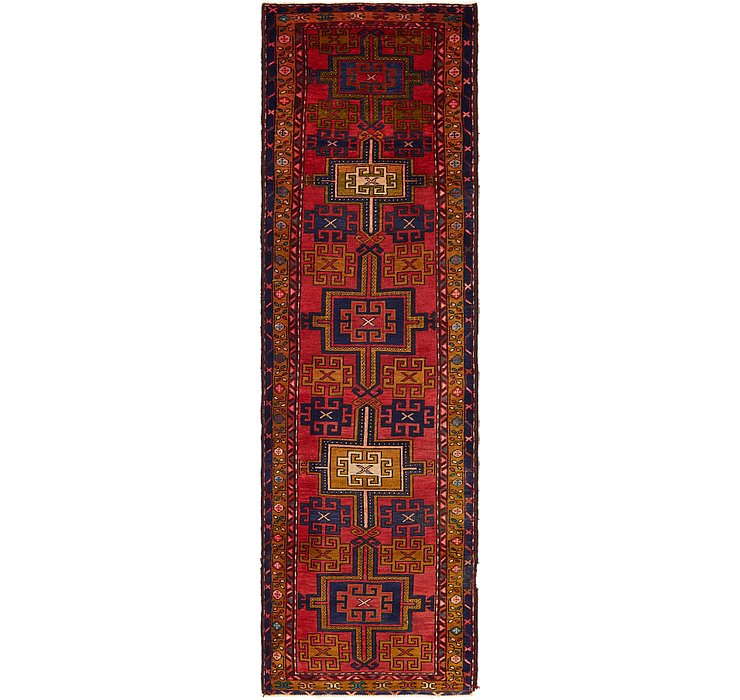 3' x 10' 6 Ardabil Persian Runner ...