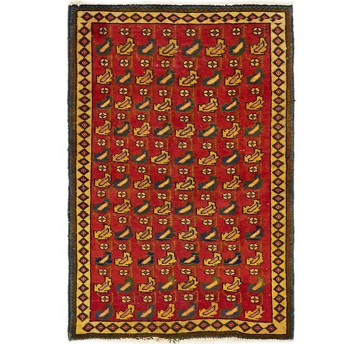 3' x 4' 7 Tabriz Persian Rug
