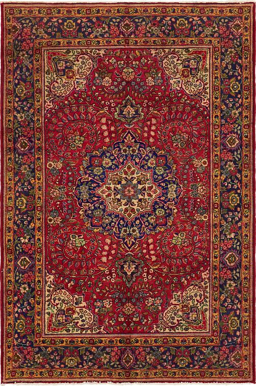 Red 6 8 X 9 10 Tabriz Persian Rug Persian Rugs Irugs Uk