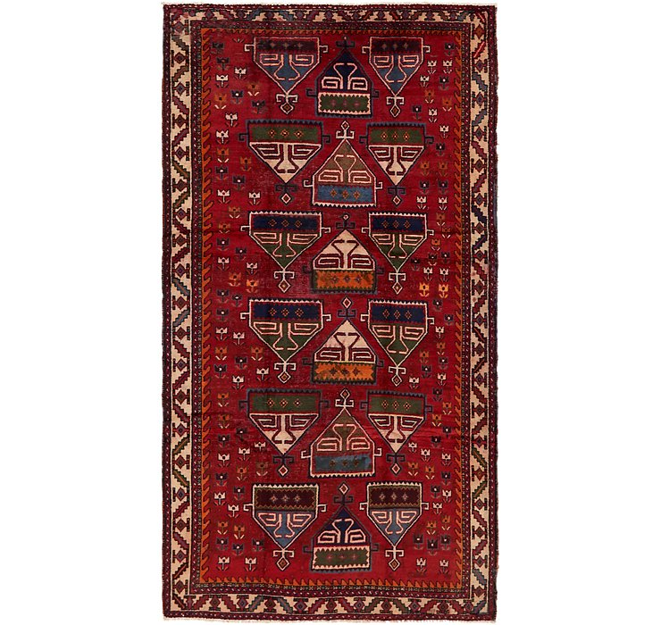 5' 4 x 9' 10 Shiraz Persian Rug