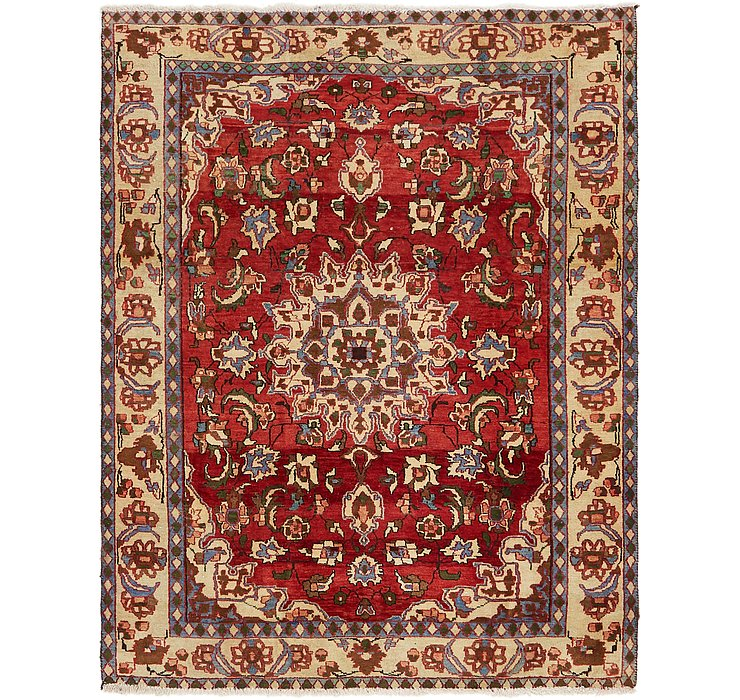 147cm x 190cm Mahabad Persian Rug